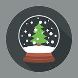 Snowball Icon Flat