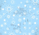 Christmas Vintage Background with drops, snowflakes
