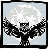 Flying Owl Moon Color