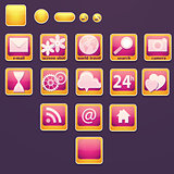 Set of buttons with social icons.