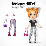 Urban teen girl in jeans