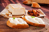 Bread with lard spread.