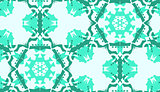 Repeating Green Doily Pattern