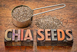 chia seeds typography