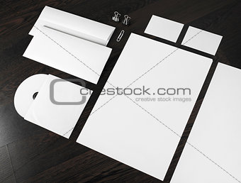 Blank stationery and corporate id template