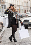 city shoppping for young woman