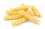 Uncooked Torchietti pasta
