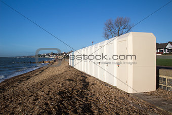 Changing Huts, Chalkwell, Essex, England
