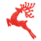Beautiful red reindeer decoration