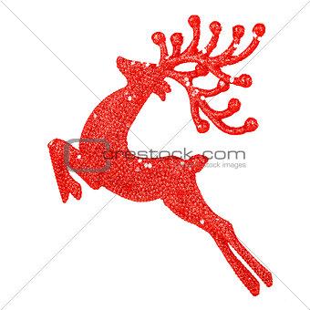 Beautiful red reindeer decoration