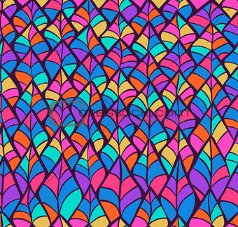 Abstract Sketched Colorful Seamless Background Pattern