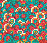 Abstract Sketched Colorful Circles Background Pattern