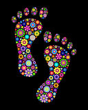 colorful footprints