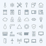 Line Home Technology Icons Set