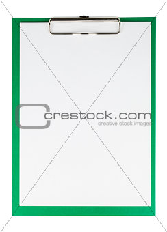 Green clipboard