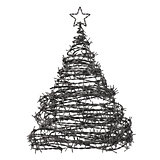 Christmas Tree Made From Barbed Wire
