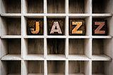 Jazz Concept Wooden Letterpress Type in Draw