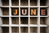 June Concept Wooden Letterpress Type in Drawer