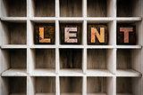 Lent Concept Wooden Letterpress Type in Drawer