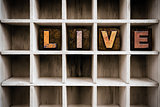 Live Concept Wooden Letterpress Type in Drawer