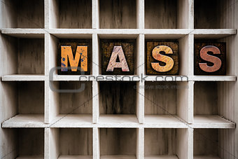 Mass Concept Wooden Letterpress Type in Drawer