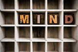 Mind Concept Wooden Letterpress Type in Drawer