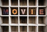 Movie Concept Wooden Letterpress Type in Drawer