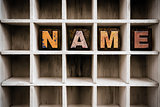 Name Concept Wooden Letterpress Type in Drawer
