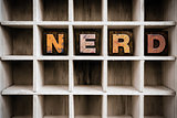 Nerd Concept Wooden Letterpress Type in Drawer