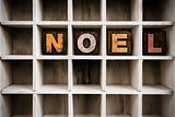 Noel Concept Wooden Letterpress Type in Drawer