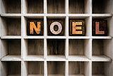 Noel Concept Wooden Letterpress Type in Drawer