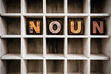 Noun Concept Wooden Letterpress Type in Drawer
