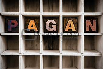 Pagan Concept Wooden Letterpress Type in Drawer