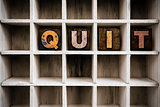 Quit Concept Wooden Letterpress Type in Drawer