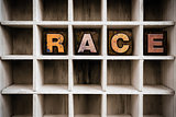Race Concept Wooden Letterpress Type in Drawer