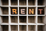 Rent Concept Wooden Letterpress Type in Drawer