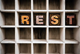 Rest Concept Wooden Letterpress Type in Drawer
