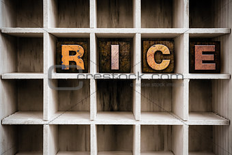 Rice Concept Wooden Letterpress Type in Drawer