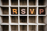 RSVP Concept Wooden Letterpress Type in Drawer