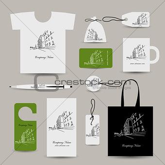 Corporate business cards, cityscape design