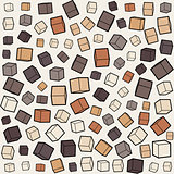 Vector Seamless Box Cube Random Scale Jumble Pattern