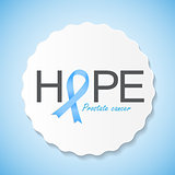 Prostate Cancer Awareness Blue Ribbon Vector Illustration