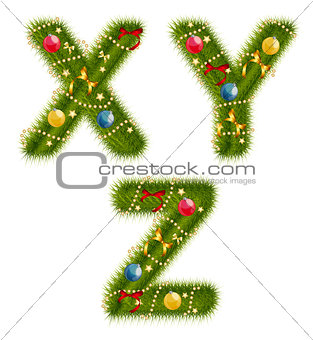 Abstract beauty Christmas and New Year Abc. Vector  Illustration