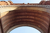 Bottom view of Arc de Triomf