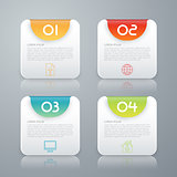 Vector illustration infographics four rounded rectangle