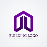 Vector illustration of logo design building