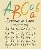 Expressive handwritten font design