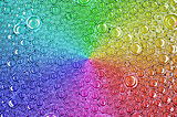 Texture rainbow bubbles