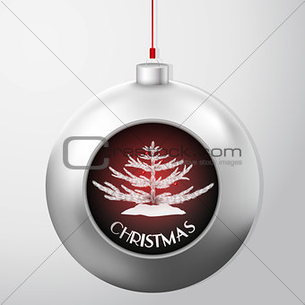 Christmas Ball with a fir inside