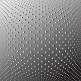 Textured convex background. Dotted pattern.